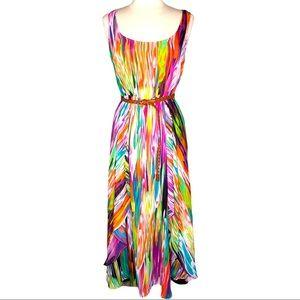Calvin Klein Boho Flowy Multicolored Dress Sz S